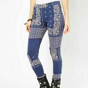 Free people bandana print leggings sz. S nwt